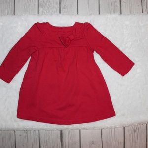 Baby Gap Long Sleeve Red Dress Size 6-12 Months